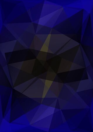 black blue: Polygonal abstract background with blue and black triangles.