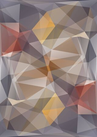 beige background: Polygonal abstract background with gray and brown triangles. Illustration