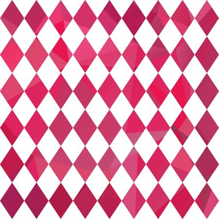 graphic pattern: Polygonal abstract background with bright pink diamonds.
