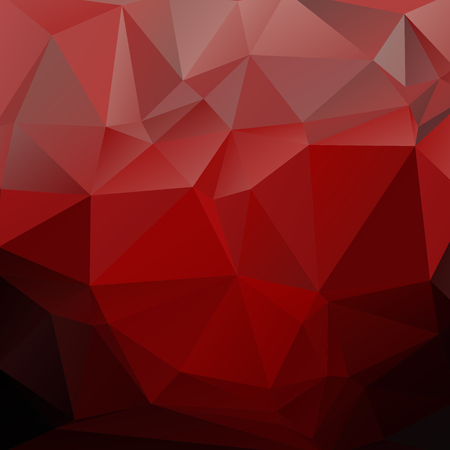 Polygonal monochrome abstract background with red dark triangles. Illustration