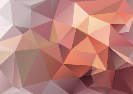 Polygonal monochrome abstract background with beige and brown triangles.