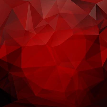 Monocromo poligonal fondo abstracto con triángulos rojos. Foto de archivo - 50403106