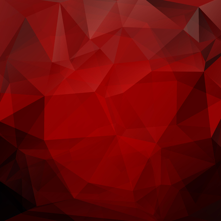 Polygonal monochrome abstract background with red triangles.