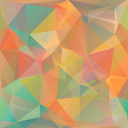 Polygonal fond abstrait avec des triangles orange et bleu.