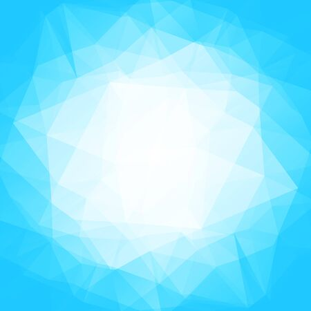 blue light background: Polygonal monochrome abstract background with blue light triangles.