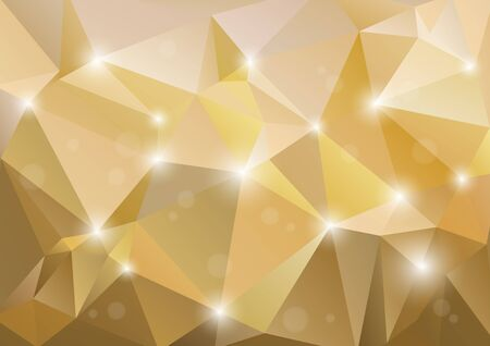 vector backgrounds: Polygonal abstract background with champagne color triangles.