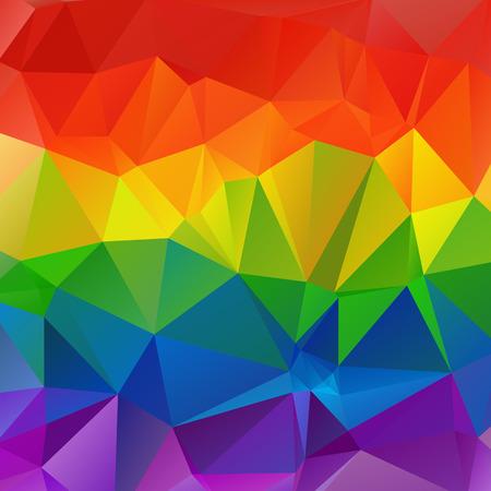 다각형 추상 여러 가지 빛깔 된 밝은 평방 무지개 배경입니다.