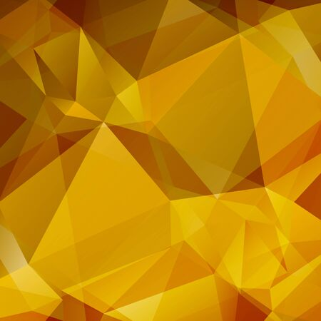 low prizes: Polygonal monochrome abstract background with golden and yellow triangles.