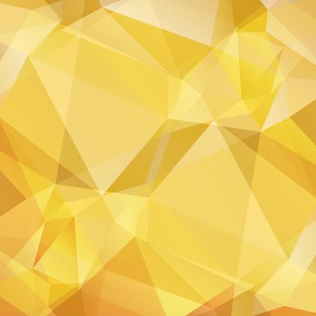 Polygonale zwart-wit licht abstracte achtergrond met gouden en gele driehoeken. Vector Illustratie