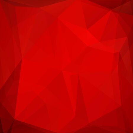 Polygonal abstract background with bright scarlet triangles. Illustration