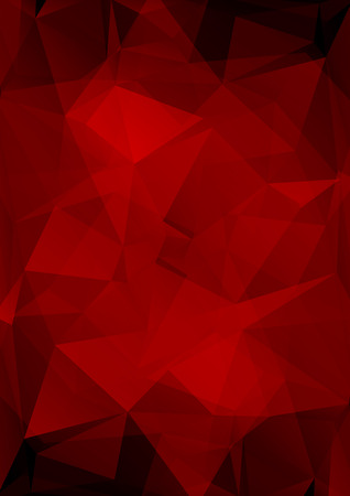 Polygonal abstract background with dark scarlet triangles.