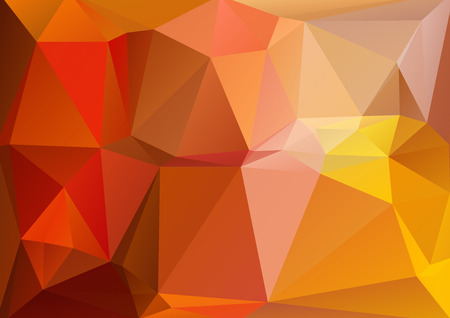 low prizes: Polygonal abstract background with red and yellow triangles. Illustration