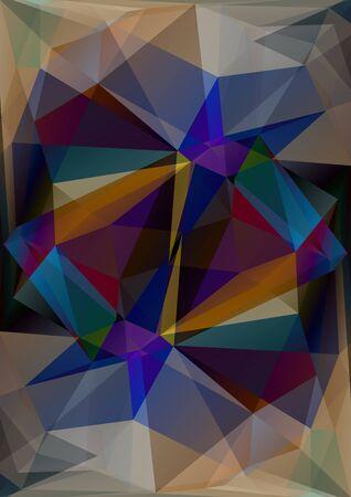resumen de antecedentes multicolores poligonal con triángulos oscuros.