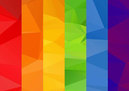 Résumé polygonale lumineux multicolore arc carré fond.