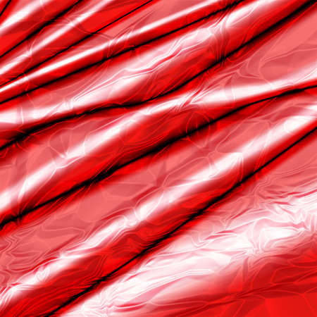pleat: Silk abstract background with red glossy texture. Stock Photo