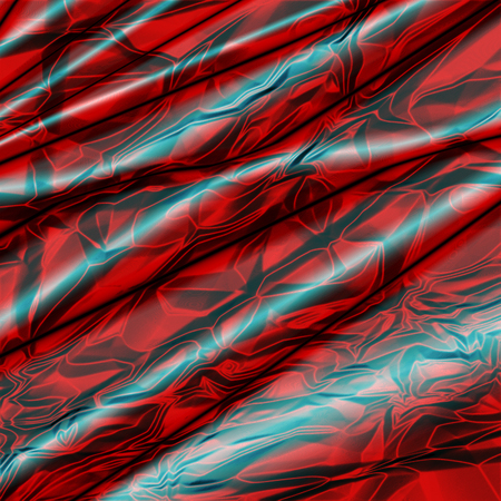 shiny: Silk abstract background with red crumpled texture.