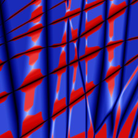 pleat: Silk abstract background with blue-red grunge texture.
