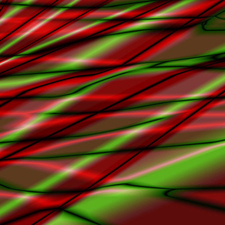 pleat: Silk abstract background with green-red texture.