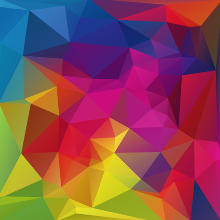 colorful background: Polygonal abstract bright background with multicolored triangles.
