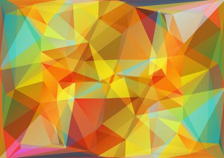 다각형 빛 추상적 인 배경을 금색과 파란색 삼각형.