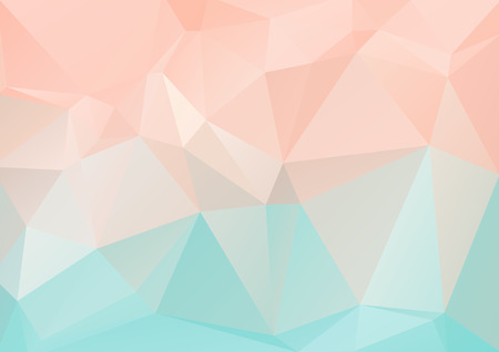 rumpled: Polygonal light abstract background with blue and pink triangles. Illustration