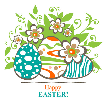curve creative: Easter egg and butterflies on a white polygonal background. Illustration