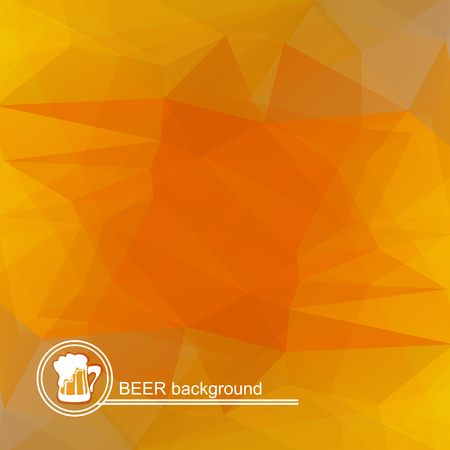 beer texture: Polygonal beer background with white lettering. Stylized texture. Illustration