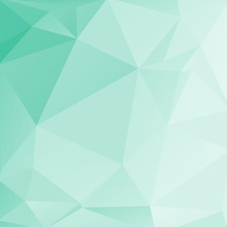 Poligonale luce sfondo astratto con triangoli di menta.