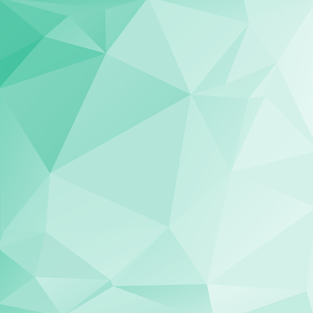 Polygonal abstract light background with mint triangles.