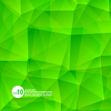 bright: Polygonal abstract background with bright green triangles.
