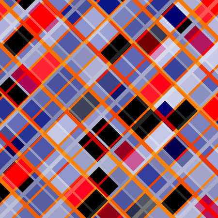 violet red: Abstract bright checkered background with violet and red rectangles. Illustration