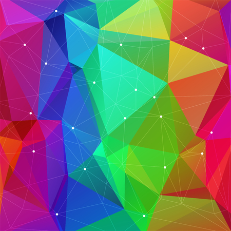 rainbow background: Polygonal abstract bright rainbow background with multicolored triangles.