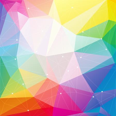 무지개 삼각형 함께 다각형 추상 배경입니다.