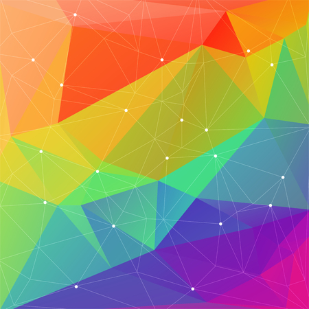 coloured background: Polygonal abstract rainbow background with multicolored triangles.