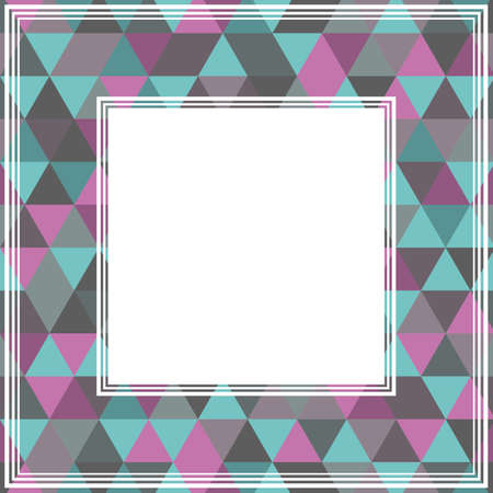 triangle pattern: Abstract border with gray and violet triangles. Illustration