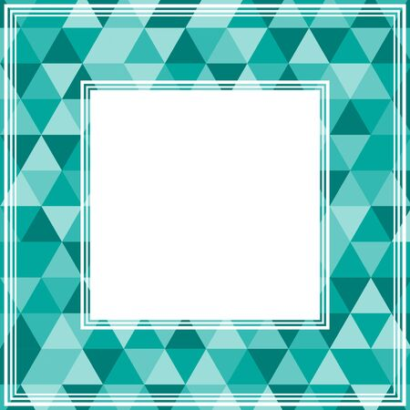triangle pattern: Abstract border with blue and mint triangles. Illustration