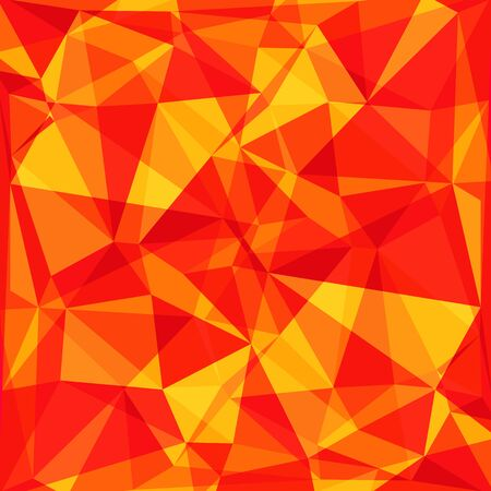 polyhedron: Polygonal abstract background with bright red and orange triangles.