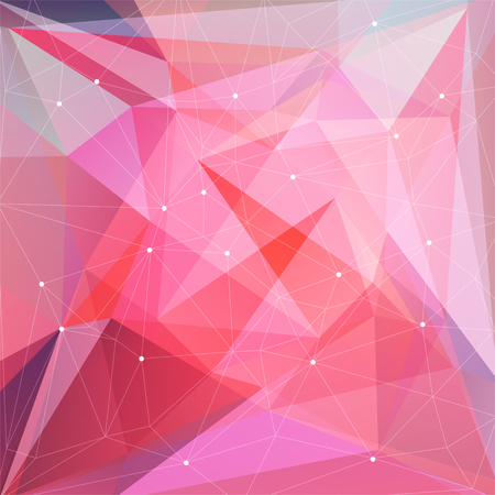 coloured background: Polygonal abstract background with pink and blue triangles.