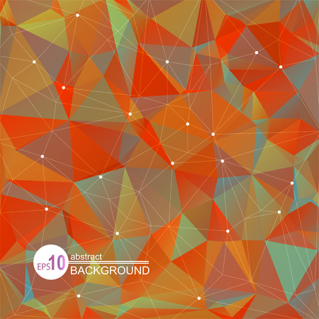 orange abstract: Polygonal abstract background with orange and gray triangles.