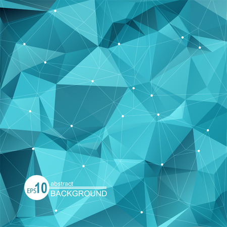 polygons: Polygonal abstract background with bright blue triangles.