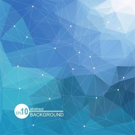 blue light: Polygonal abstract background with light blue triangles. Illustration