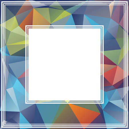 art background: Polygonal abstract background with blue and red triangles.