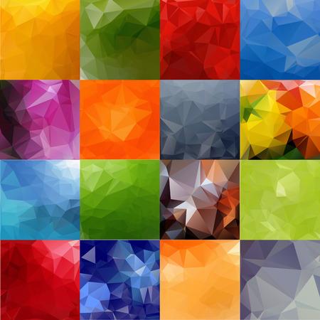 coloured background: Set of bright colored polygonal frames. Illustration