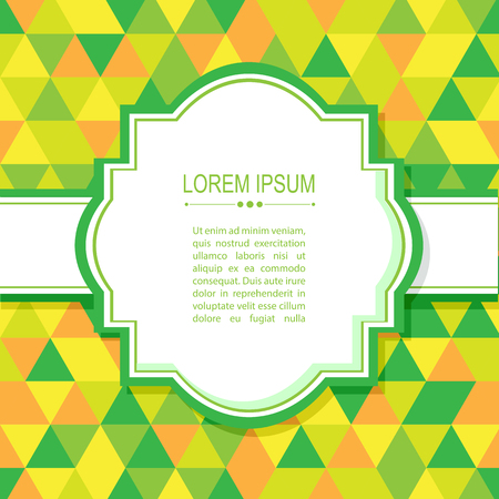 yellow green: Abstract border with green and yellow triangles. Illustration