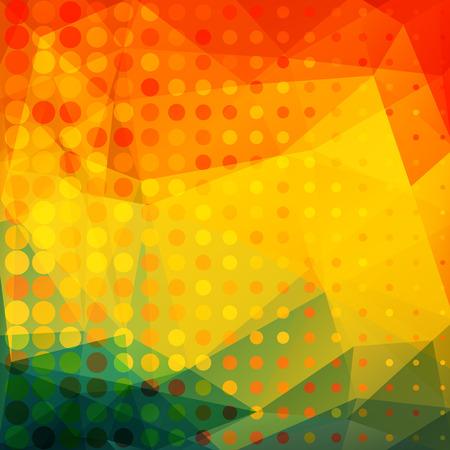 sundown: Polygonal abstract background. Looks like stylized sunset.