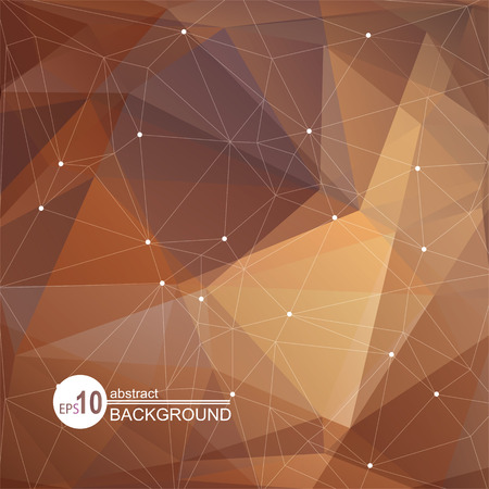 beige: Polygonal abstract background with brown and beige triangles.