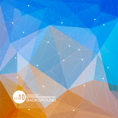sand background: Polygonal abstract background. Looks like stylized sea and sand. Illustration
