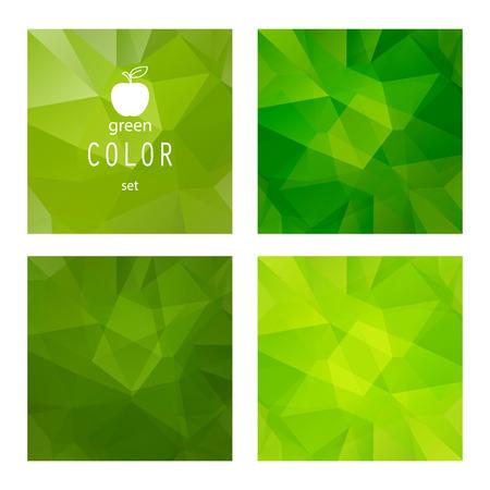 Satz von polygonalen grünen Apfel abstrakt.