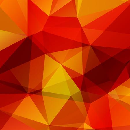Polygonaler Hintergrund mit roten und orangefarbenen Dreiecken.