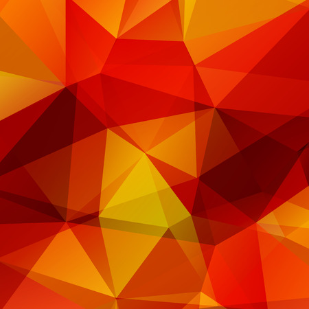 background orange: Polygonal background with red and orange triangles.